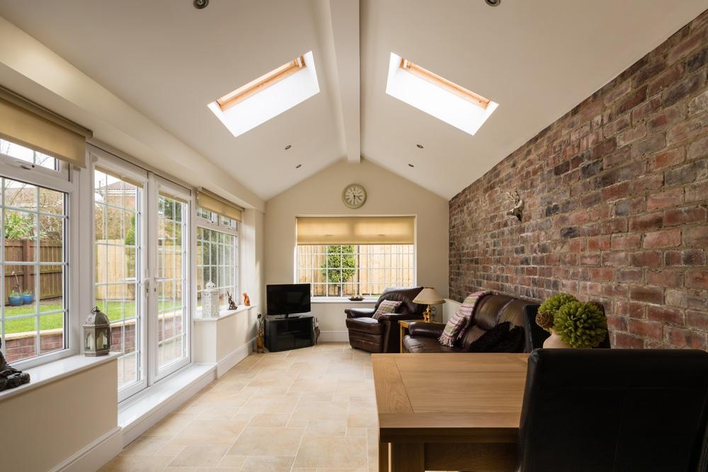 inside a home garden conservatory