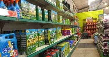 moss killing products on store shelf