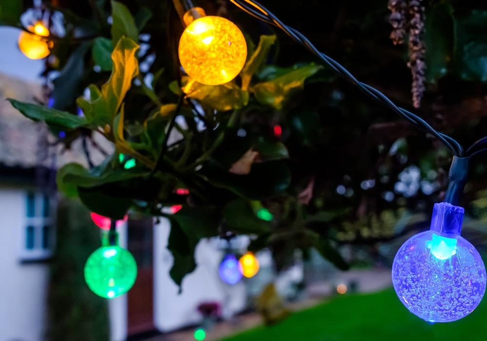 multi coloured string lighting