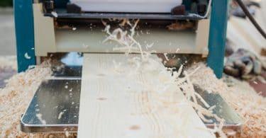 thicknesser planer shaving timber boards