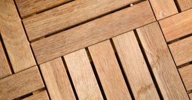 interlocking decking tiles in wooden slats