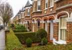 front garden with hedge in chiswick, london