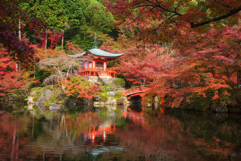 Daigoji Temple pagoda in Kyoto, Japan